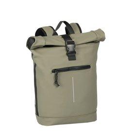 New-Rebels® Mart - Roll-Top - Backpack - Waterafstotend  - Taupe - Large II - Rugtas - Rugzak