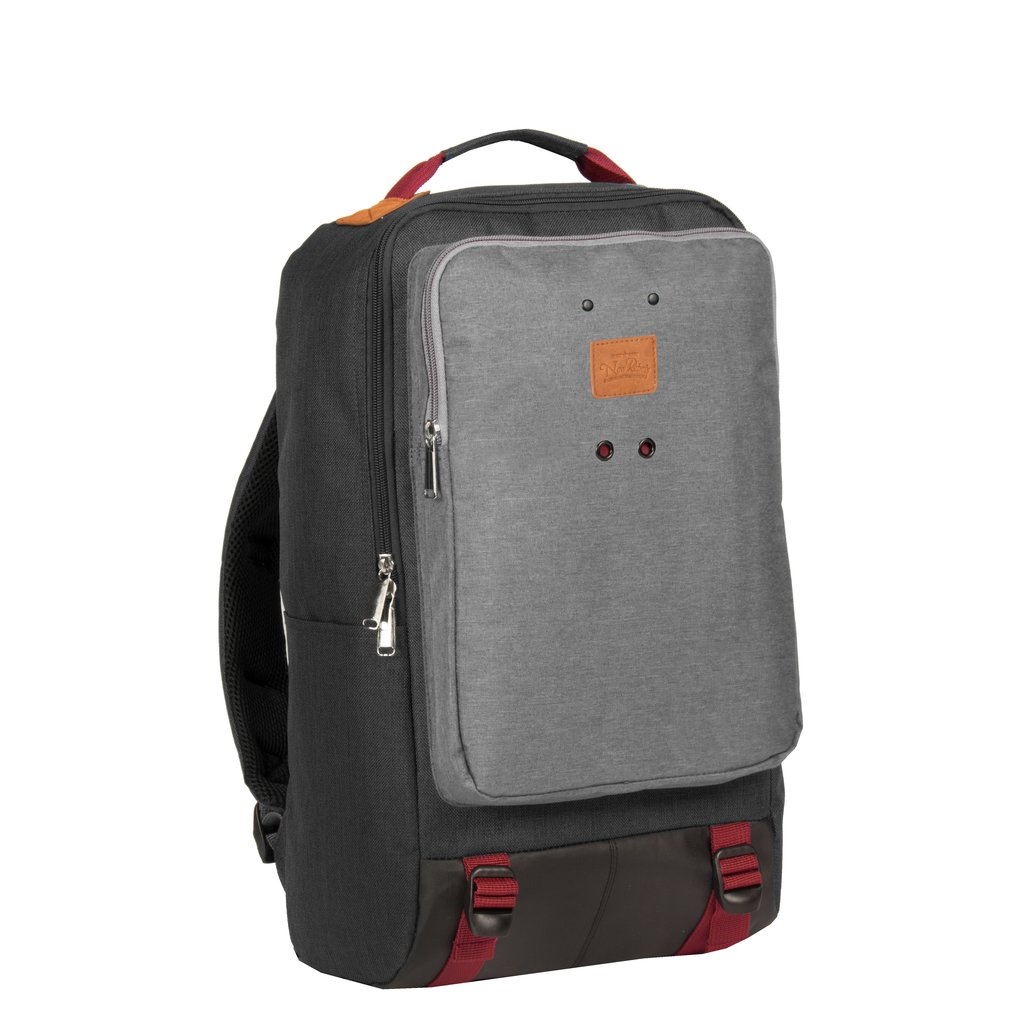 Wodz Big Backpack Black/Grey II | Rucksack