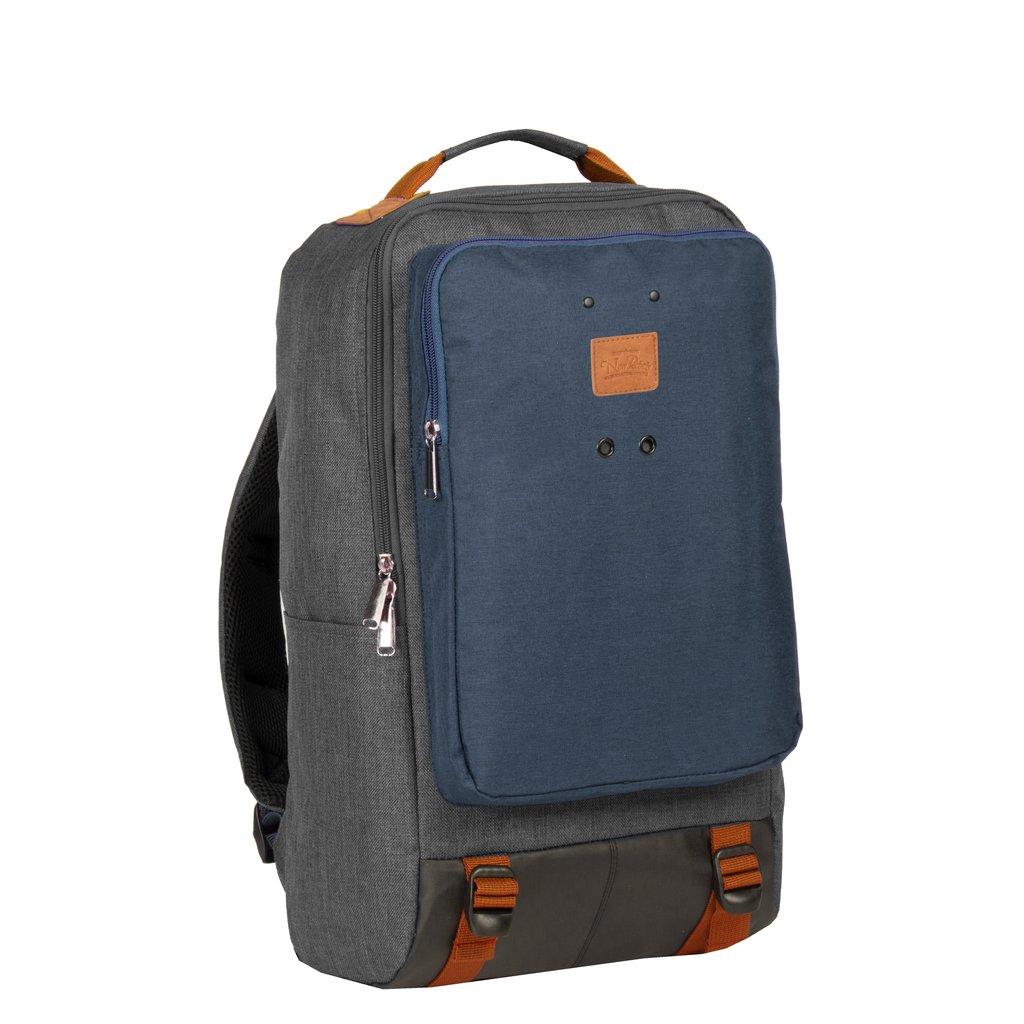 New-Rebels ® Wodz - Big Backpack - Grey/Navy  II - 27x20x47cm - Backpack