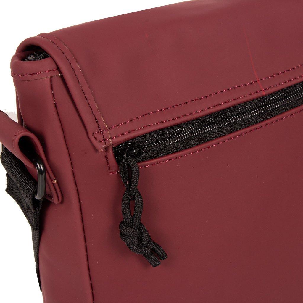 New-Rebels®Mart Shoulderbag A5 Flapover Burgundy  VII | Umhängetasche