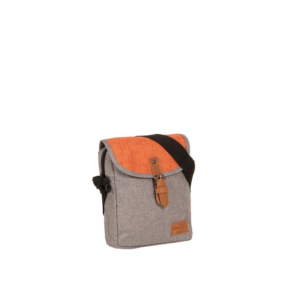 Creek Small Flap Anthracite/Orange I | Umhängetasche