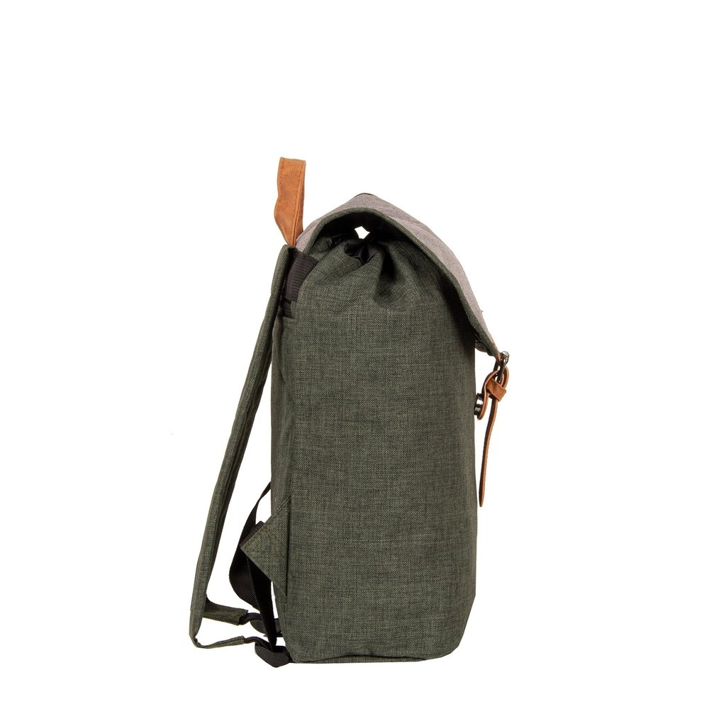 Creek Small Flap Backpack Dark Green/Anthracite IV | Rugtas | Rugzak