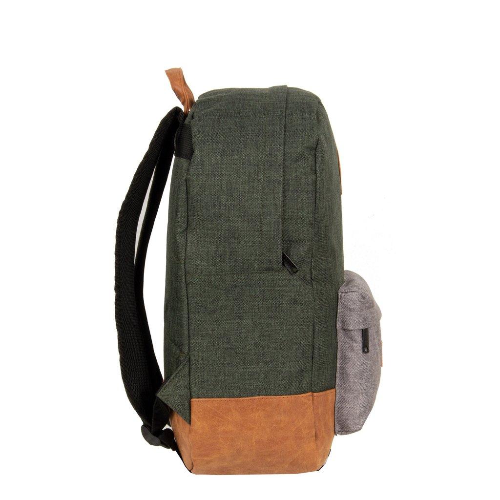 New Rebels® - Creek - Rugzak - Rugtas - 16L - Nylon - Donkergroen Antraciet