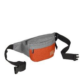 Creek Waist Bag Anthracite/Orange VIII | Heuptasje
