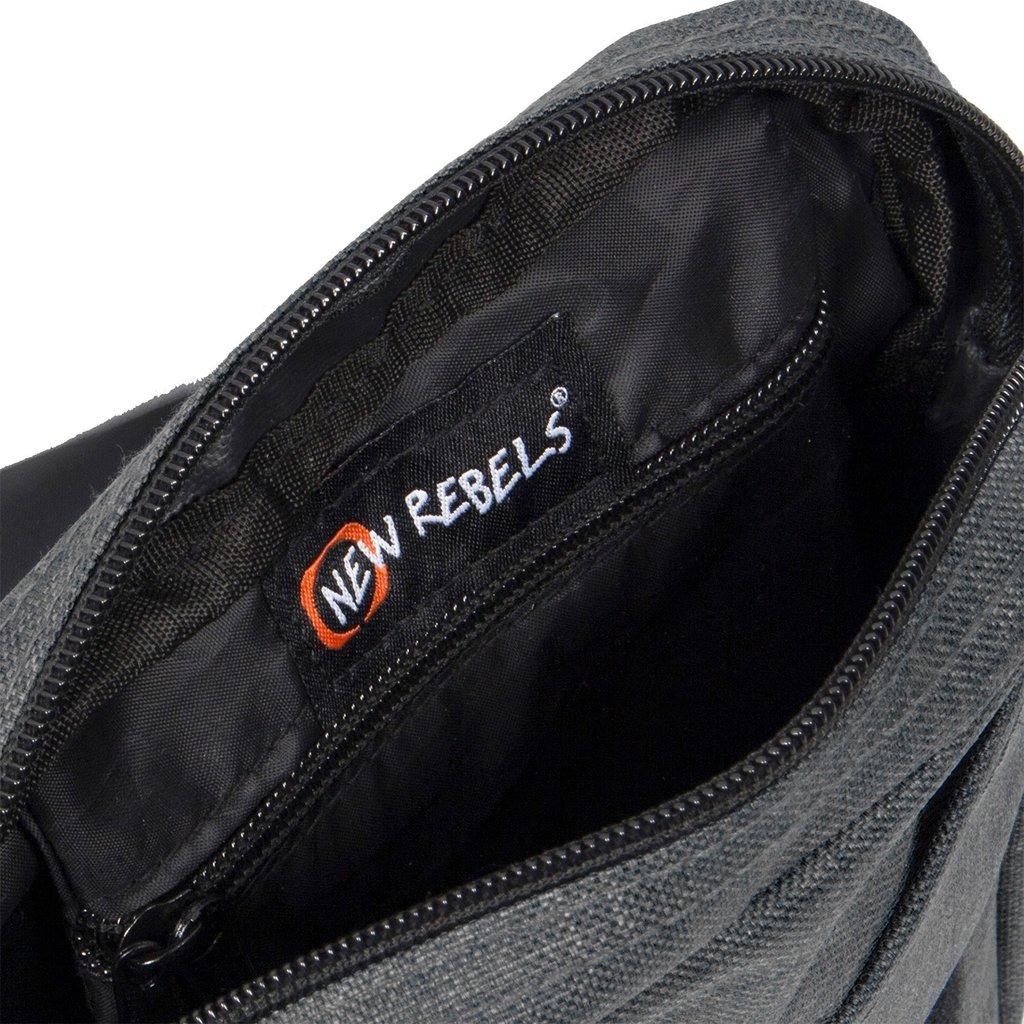 New Rebels® - Heaven - Schoudertas - Crossbody - Polyester - Zwart
