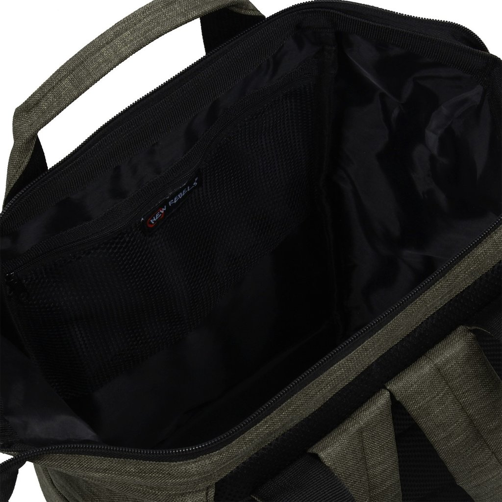 New Rebels® - Heaven Shopper -  Rugzak - 15L - Polyester - Donkergroen