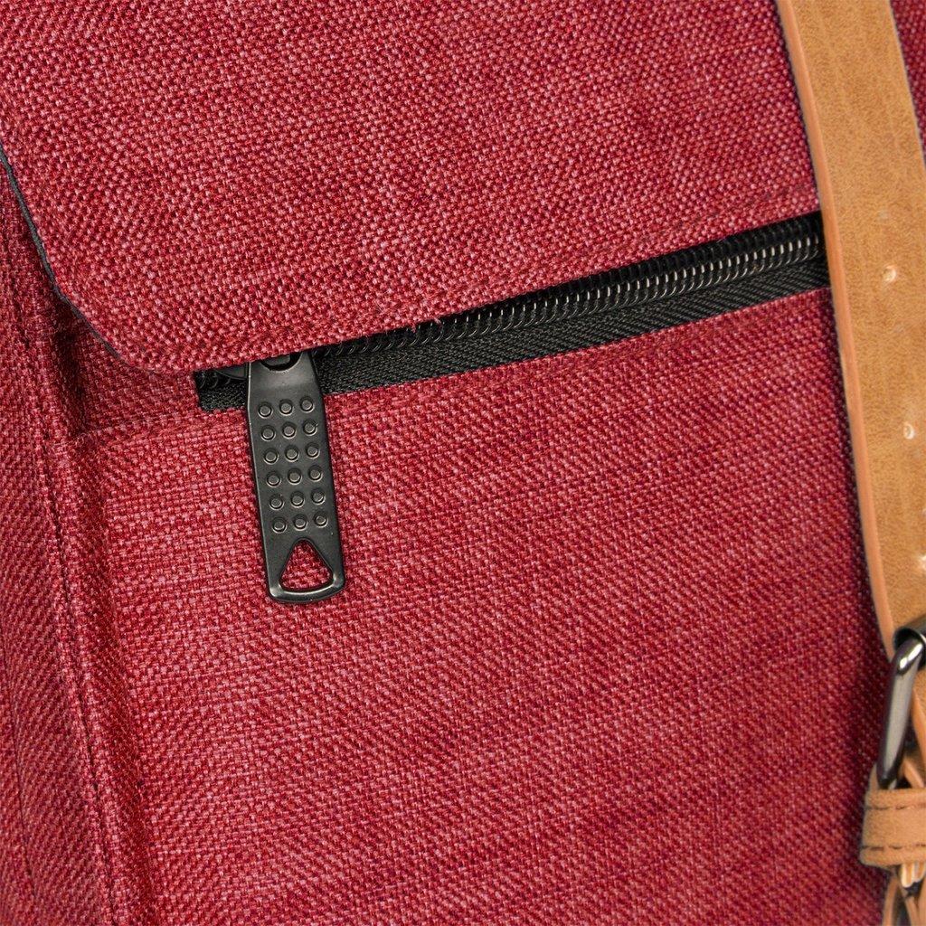 Heaven Square Backpack Burgundy 5L XXIV | Rugtas | Rugzak