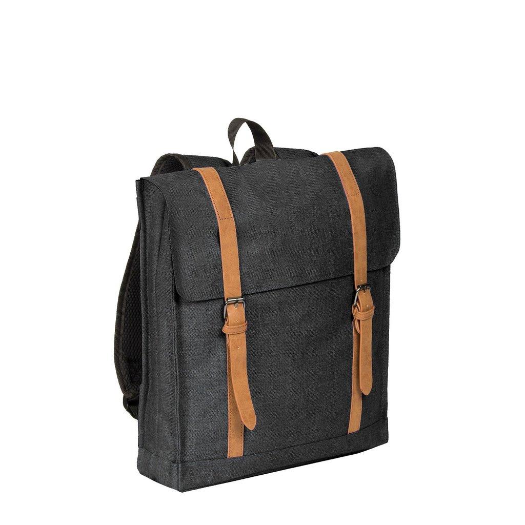 Heaven Big Square Backpack Black 14L XXV   Rucksack