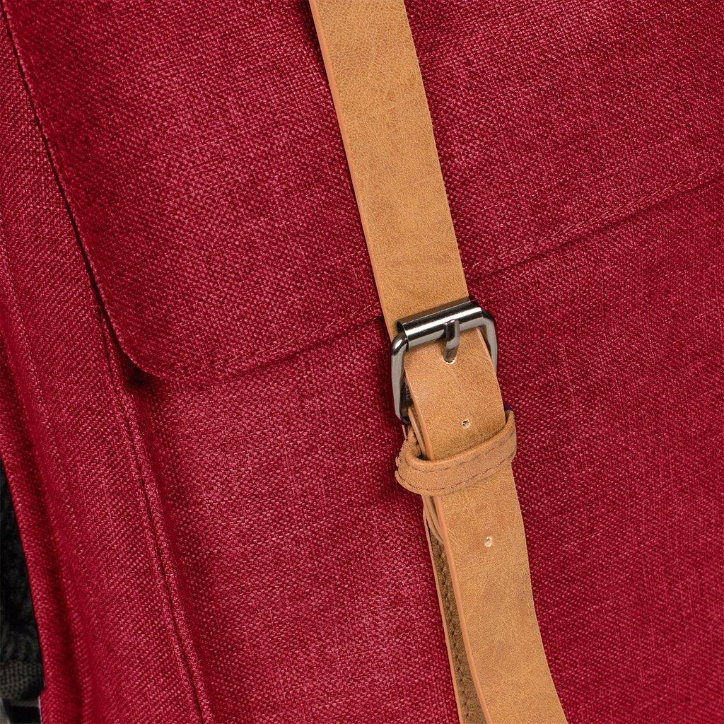 Heaven Big Square Backpack Burgundy 14L XXV | Rucksack
