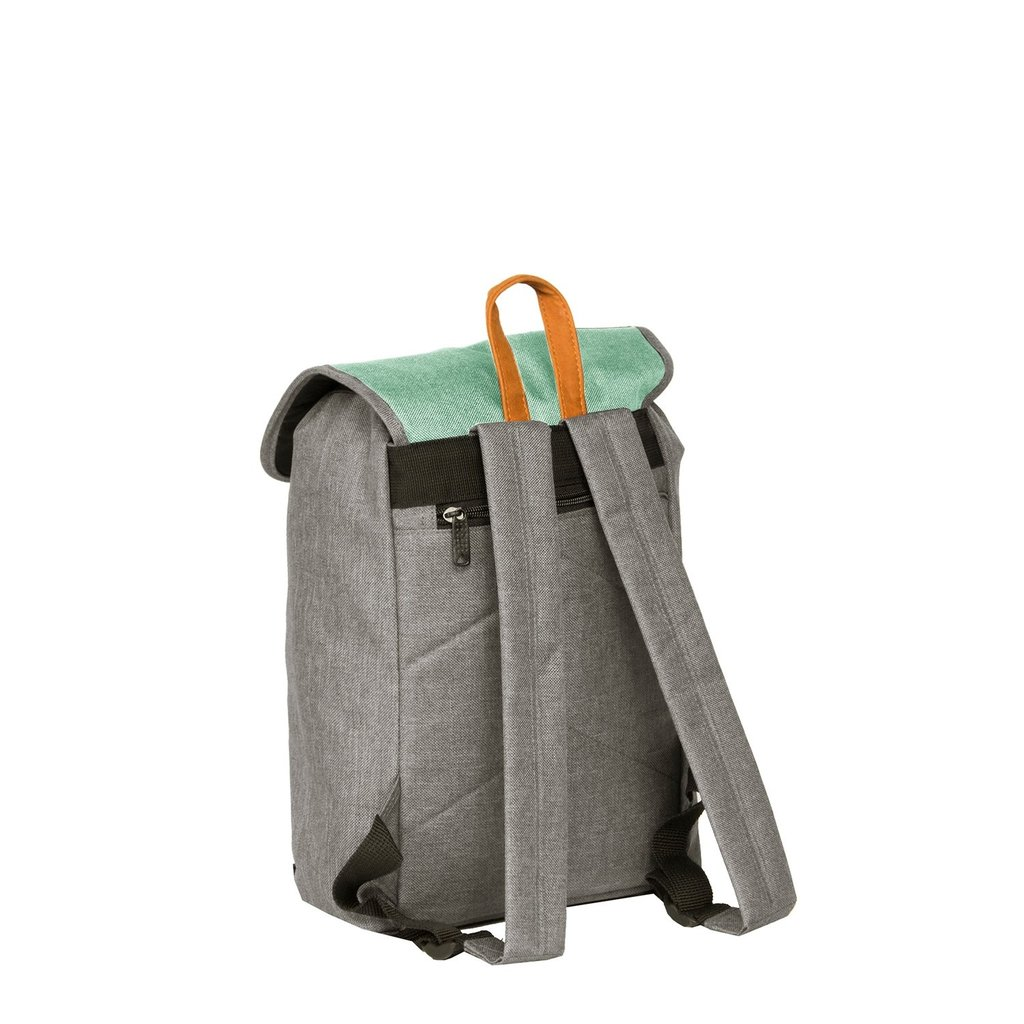 Creek Small Flap Backpack Anthracite/Mint IV | Rugtas | Rugzak