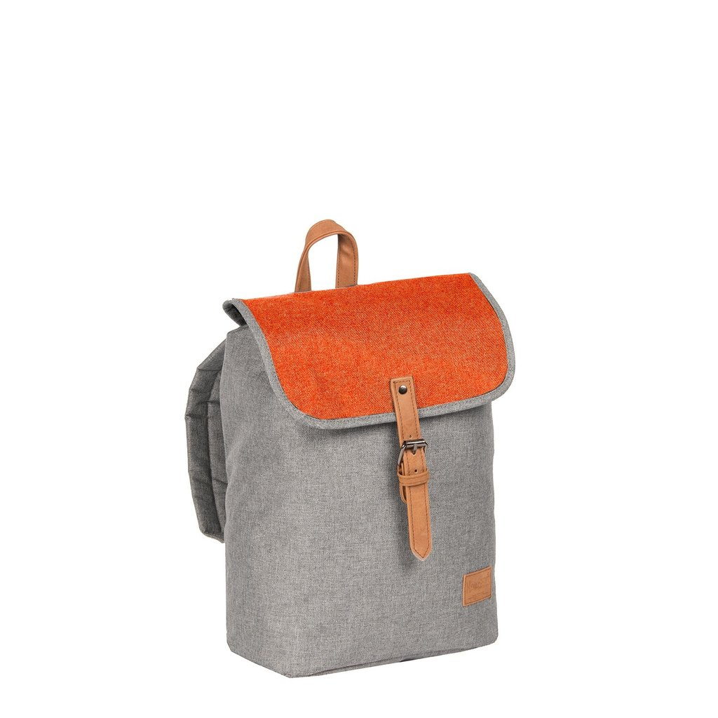 Creek Small Flap Backpack Anthracite/Orange IV