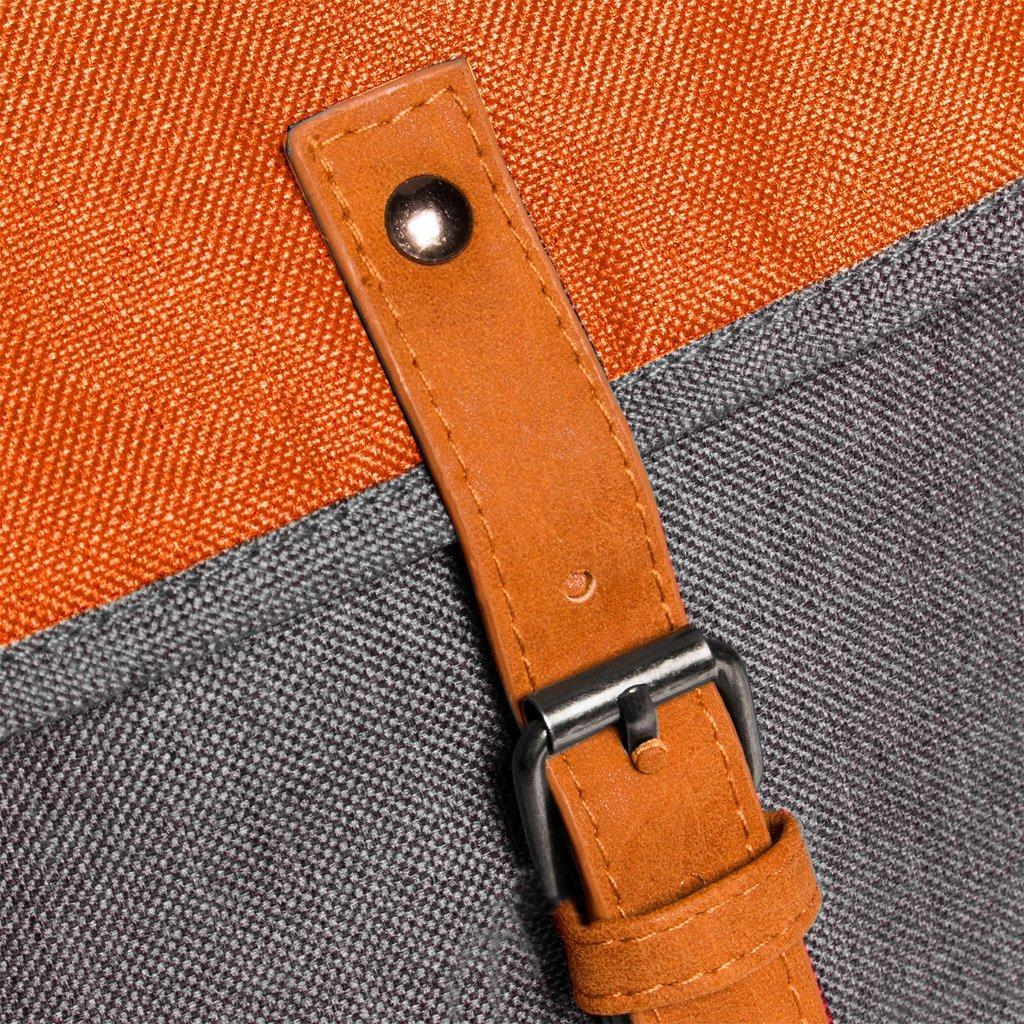 Creek Small Flap Backpack Anthracite/Orange IV | Rugtas | Rugzak