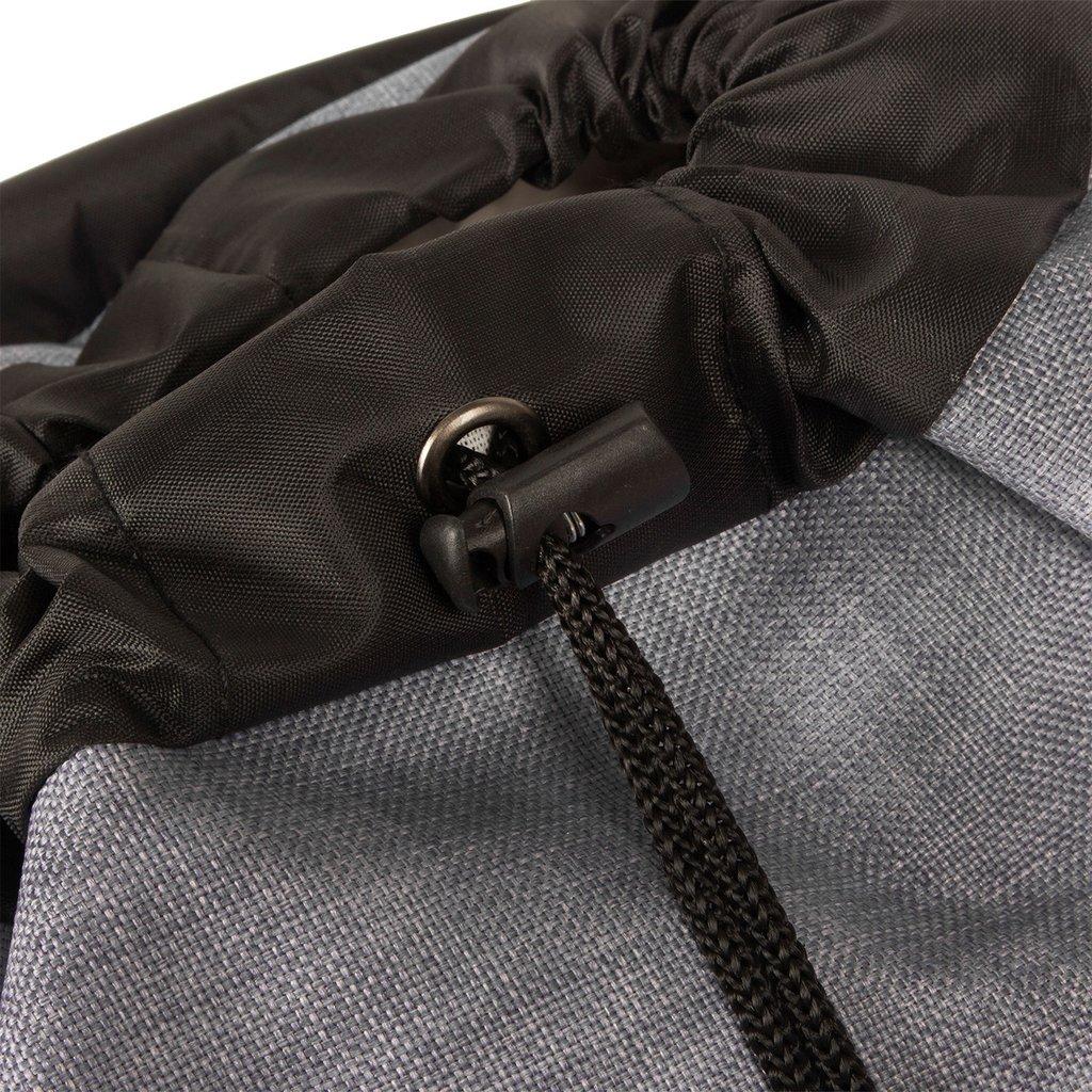 Creek Small Flap Backpack Anthracite/Orange IV | Rucksack