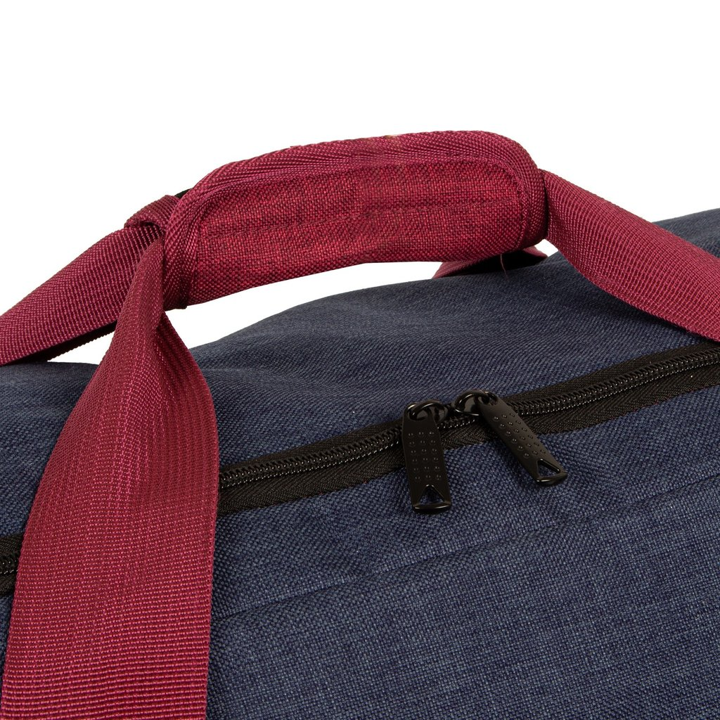 Wodz Sports Bag Navy/Burgundy Medium V | Weekendtas | Sporttas