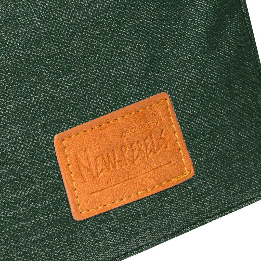 Heaven Top Zip Dark Green V | Schoudertas