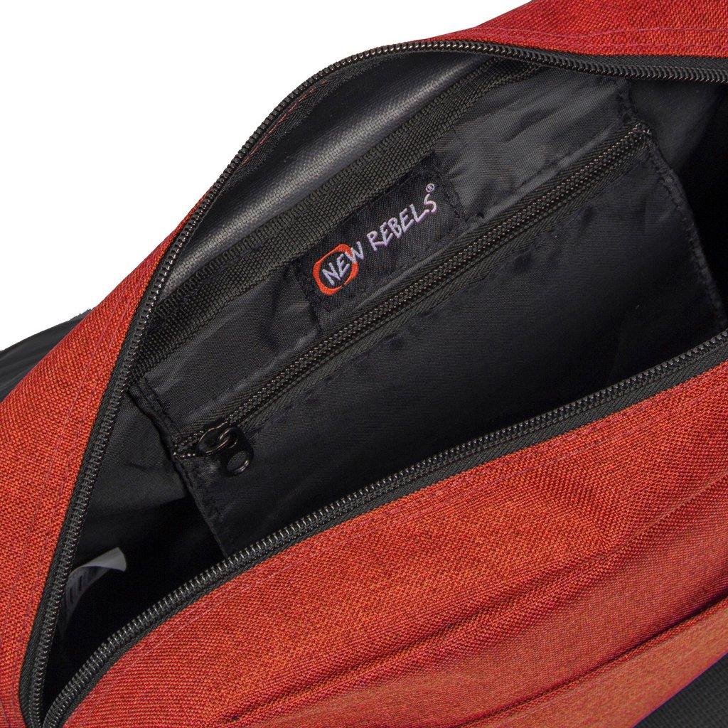 New Rebels®  Heaven25 - Medium Schoudertas  A5 - Crossbodytas met flap - Oranje