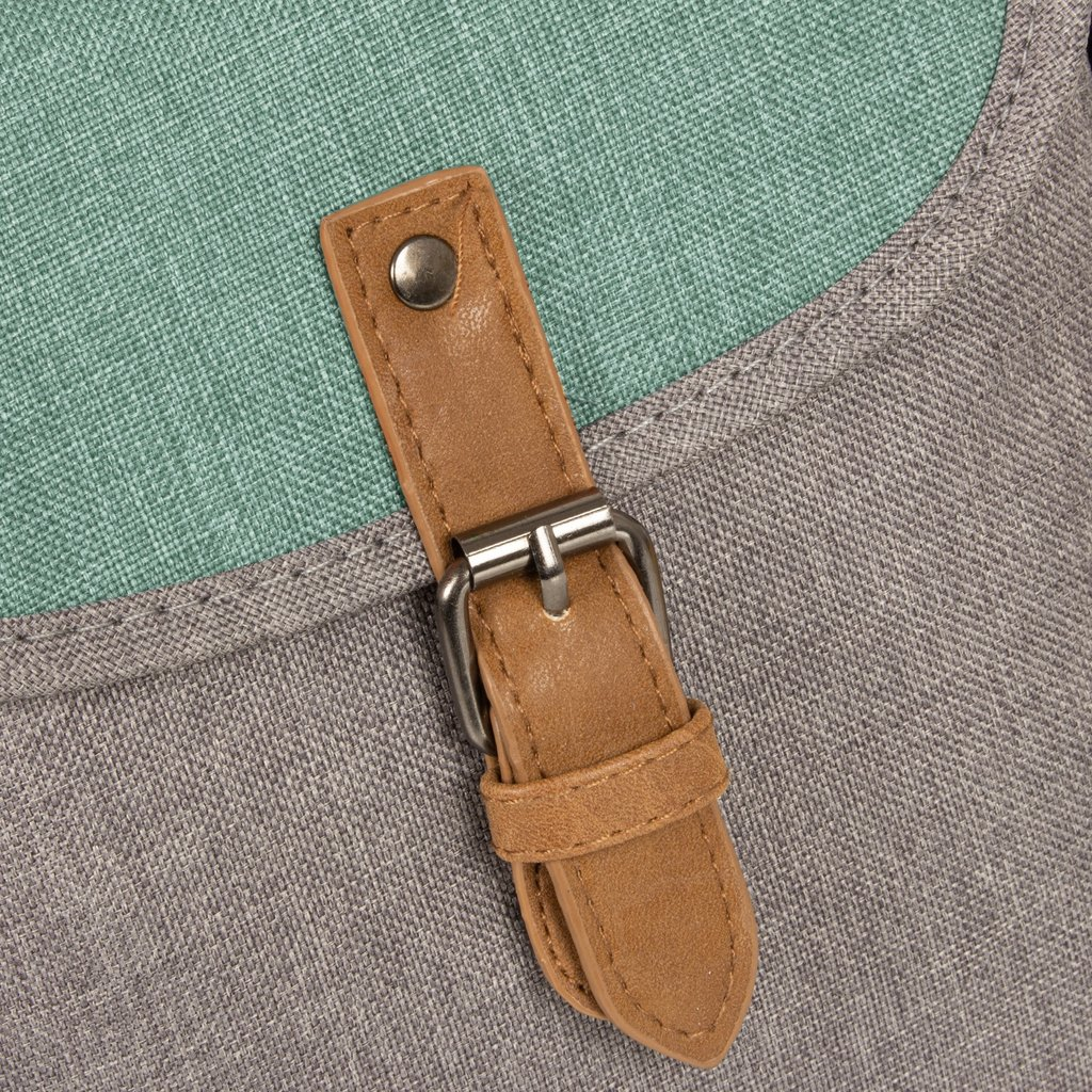 Creek Small Flap Anthracite/Mint I | Umhängetasche
