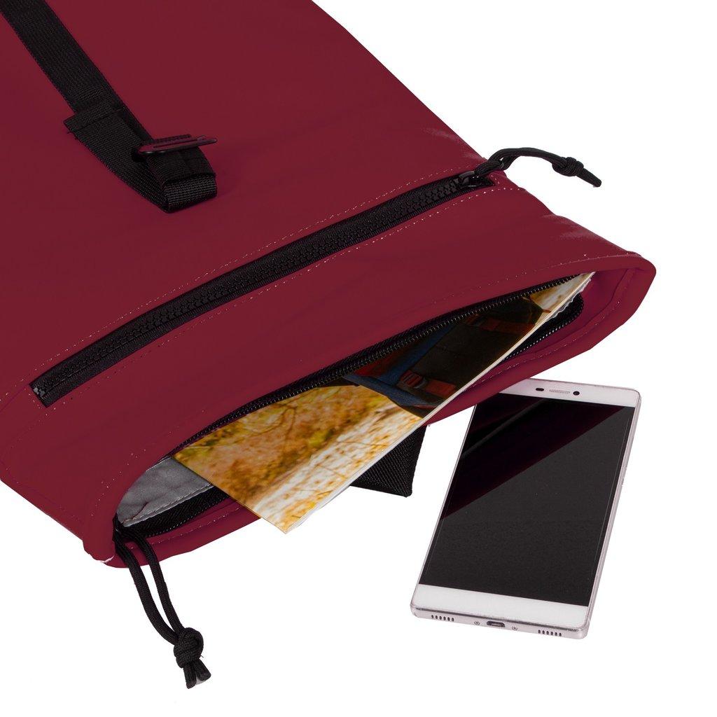 Mart Roll-Top Backpack Burgundy Small II