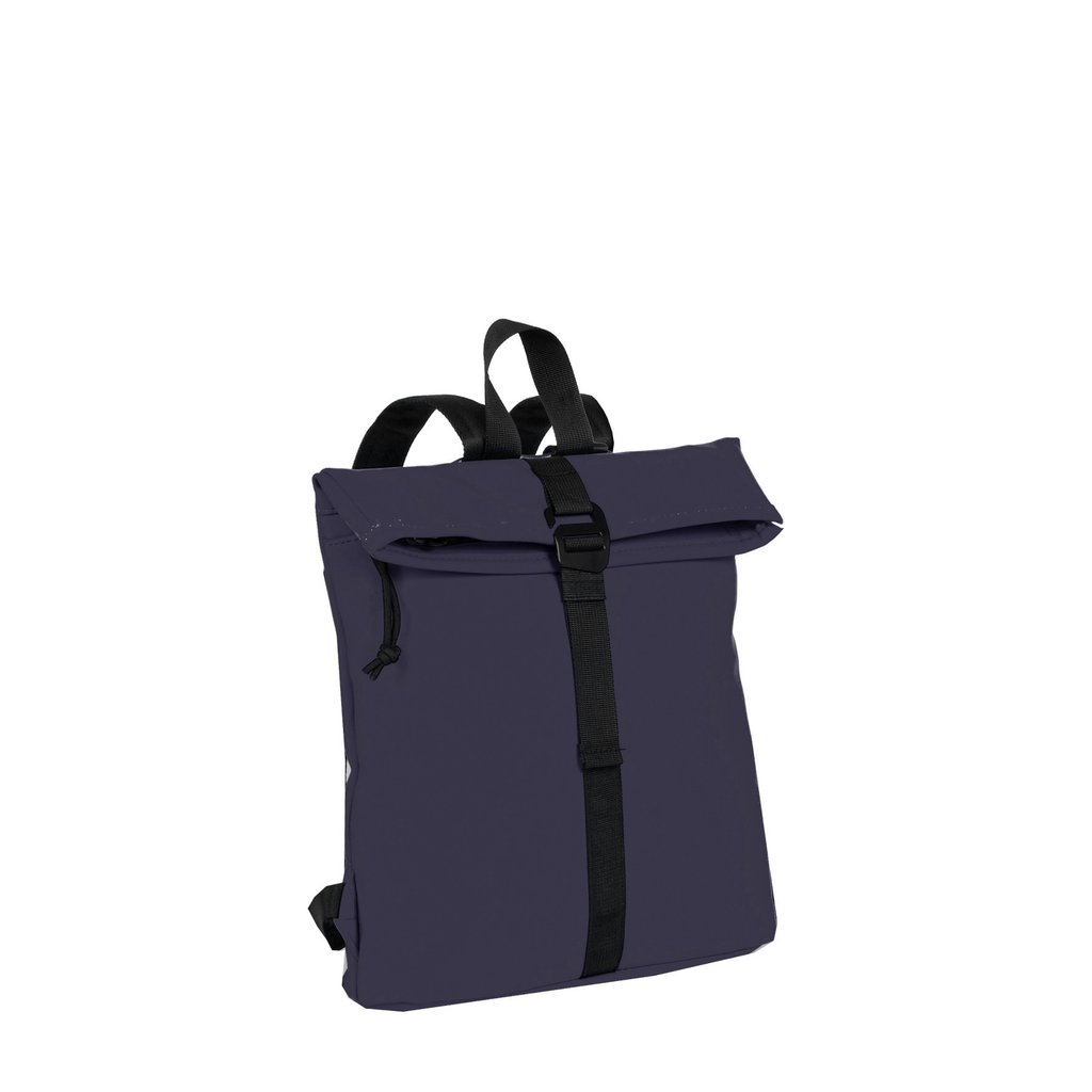 New-Rebels® Mart - Roll-Top - Backpack - Navy Blue - Small II - 27x8x33cm - Backpack