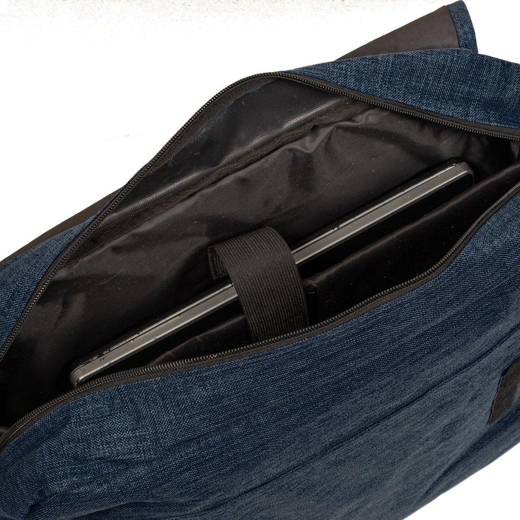 "New Rebels®  Heaven26 - Large -  Schoudertas – Laptoptas 15,6"" -  A4 - Shadow Blue"