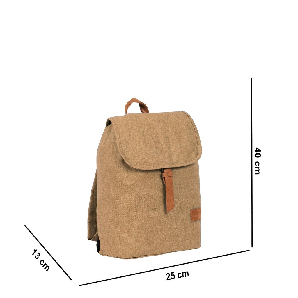 Heaven Small Flap Backpack Sand XIX