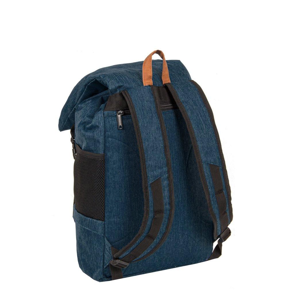New Rebels® - Heaven - Rugzak - Vrijetijdstas - 19L - Laptop vak - Polyester - Donkerblauw