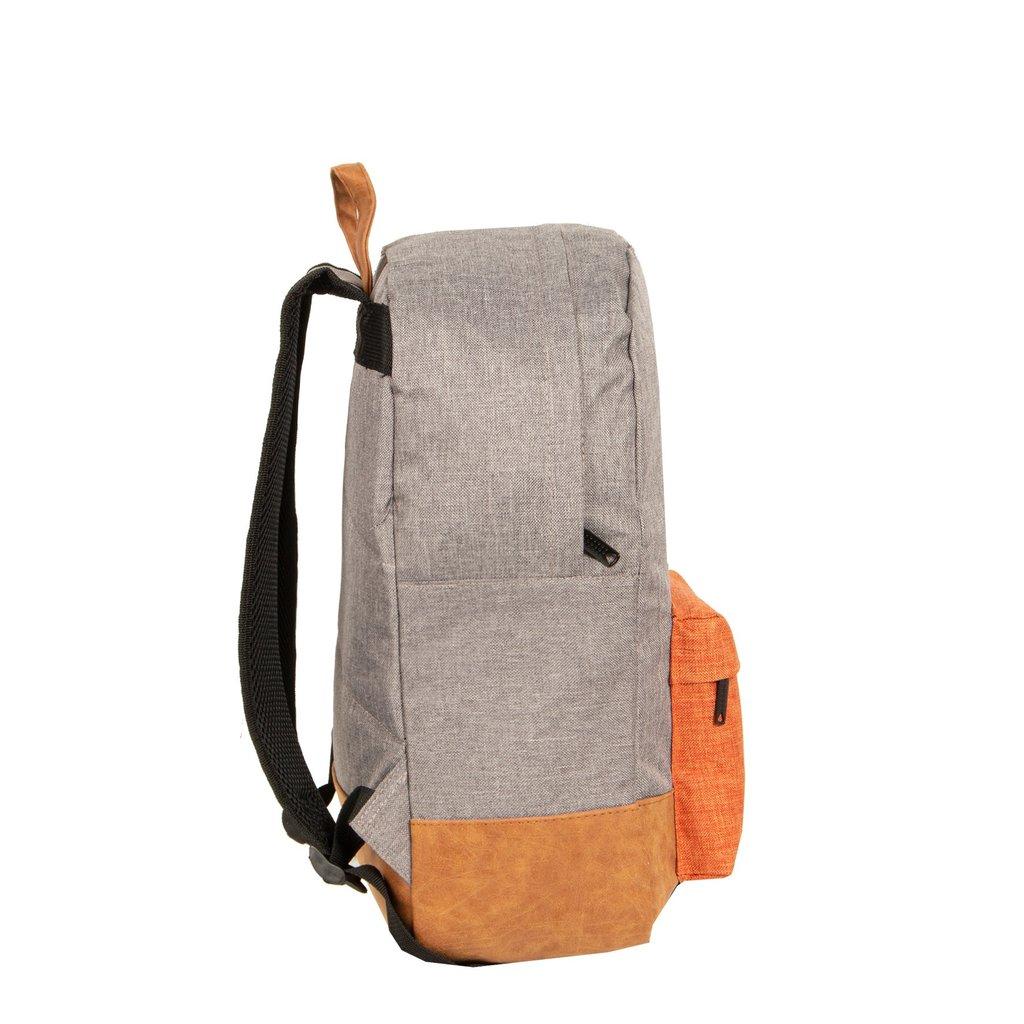 Creek Round Shape Backpack Anthracite/Orange VI