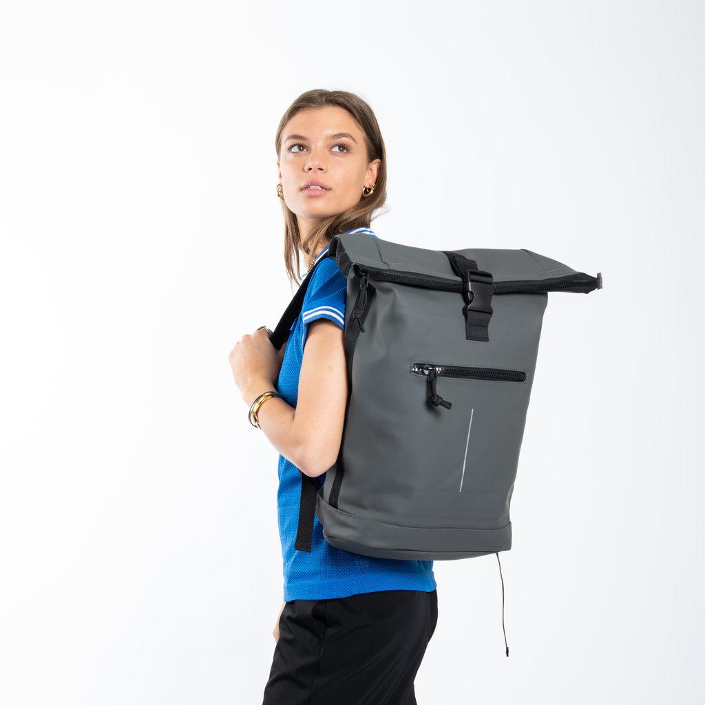 New-Rebels® Mart Waterafstotende Rolltop Laptop Rugzak - 15,6 inch -  Large II - Taupe
