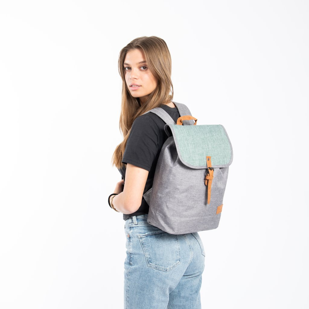 Creek Small Flap Backpack Mint/Anthracite IV | Rucksack