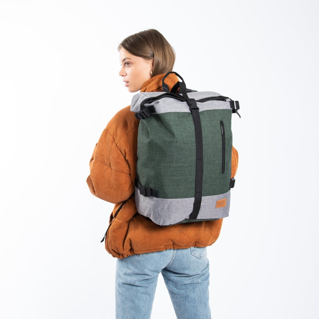 Creek Roll Top Backpack Anthracite/Orange VII | Rugtas | Rugzak