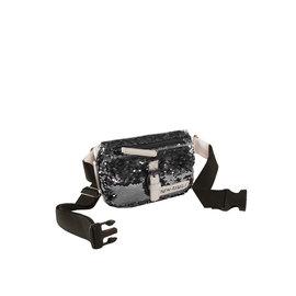 New Rebels Sequin Waistbag Zwart | Bauchtasche