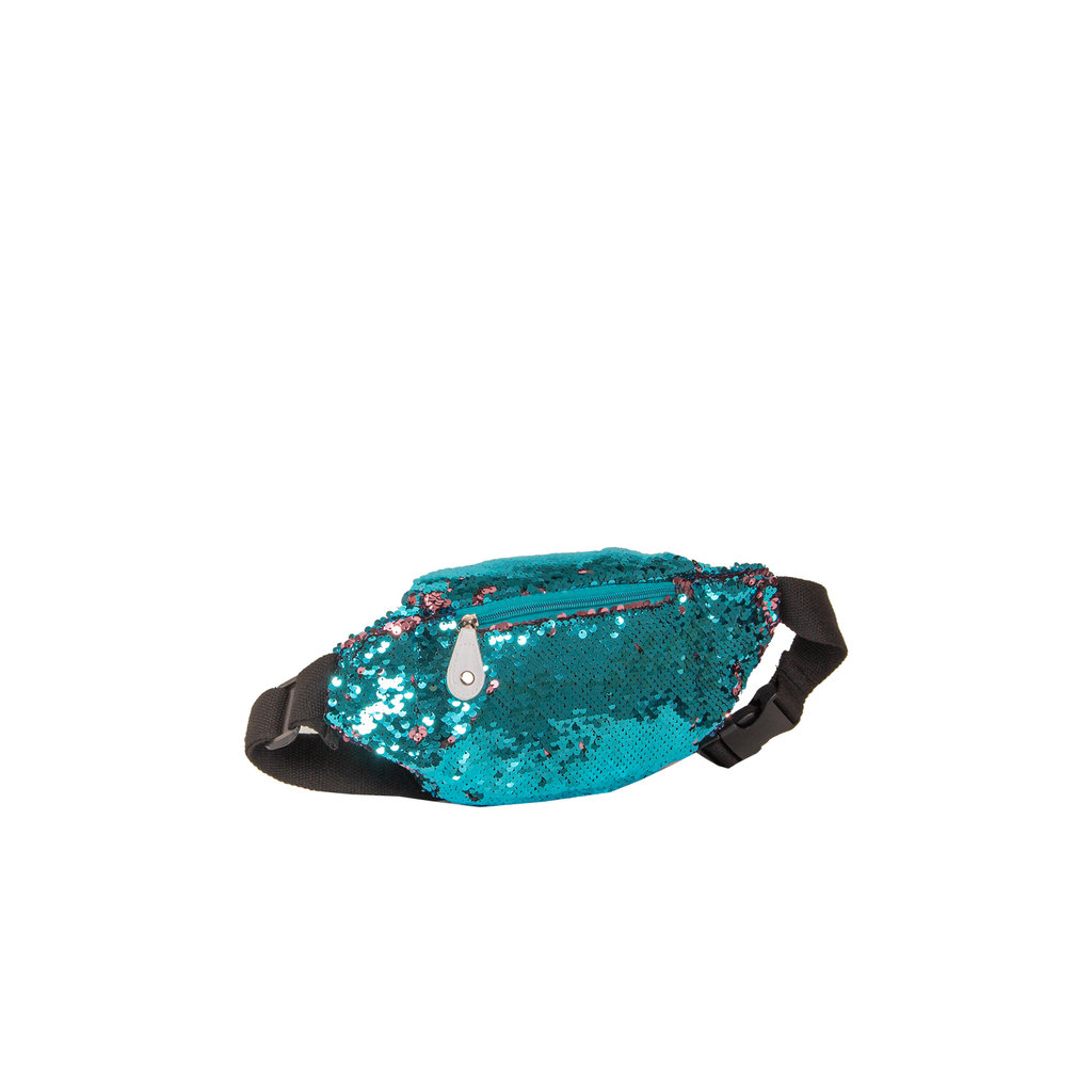 New Rebels Sequin Waist Bag Soft Blue | Bauchtasche