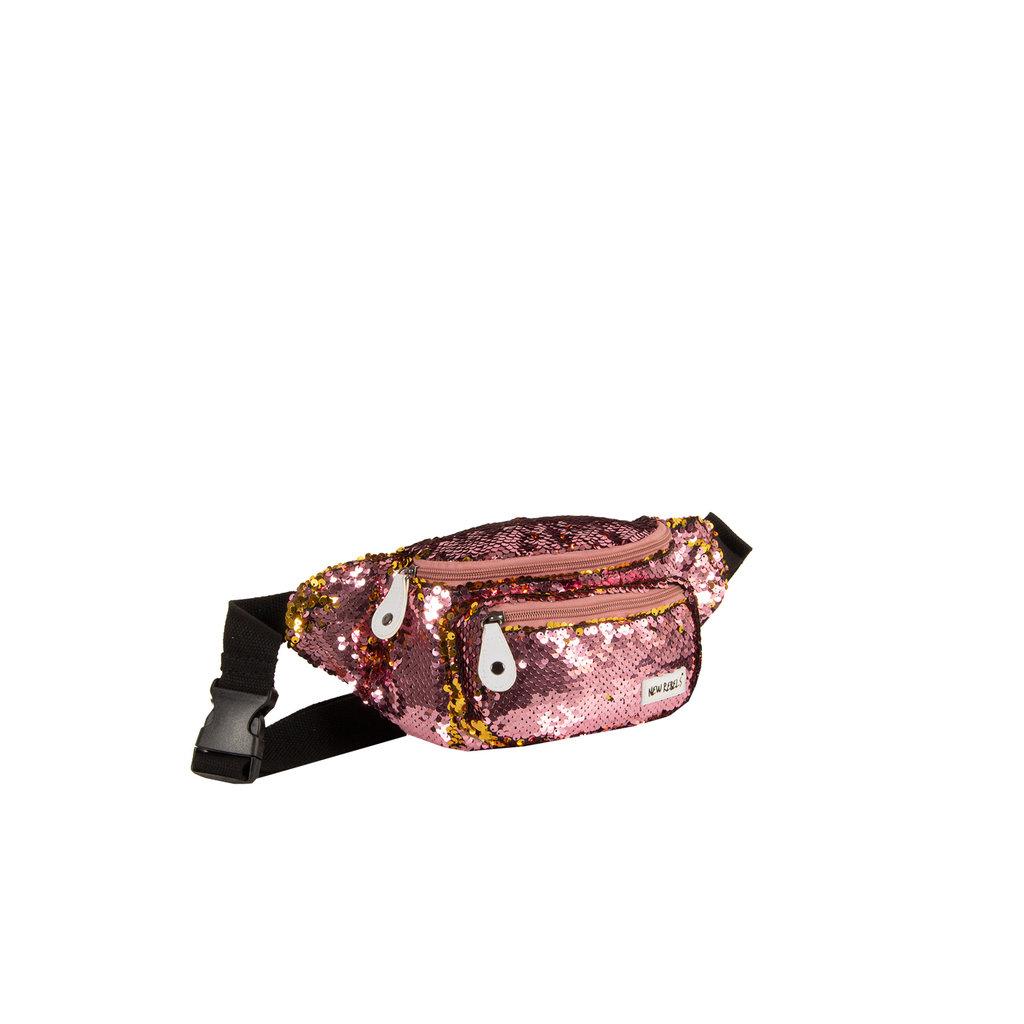 New Rebels Sequin Waist Bag Soft Pink | Bauchtasche