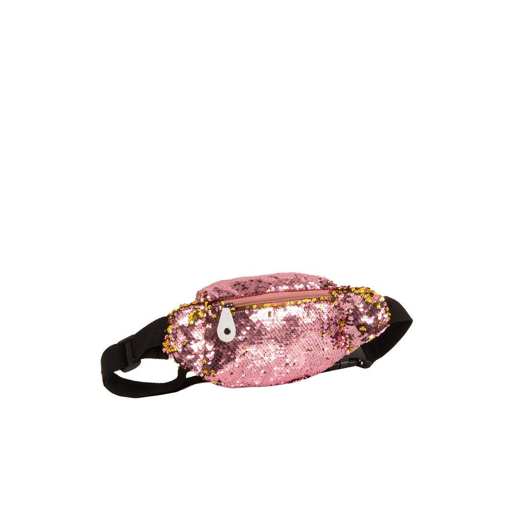 New Rebels Sequin Waist Bag Soft Pink | Heuptasje