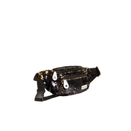 New Rebels Sequin Waistbag Zwart | Bauchtasche