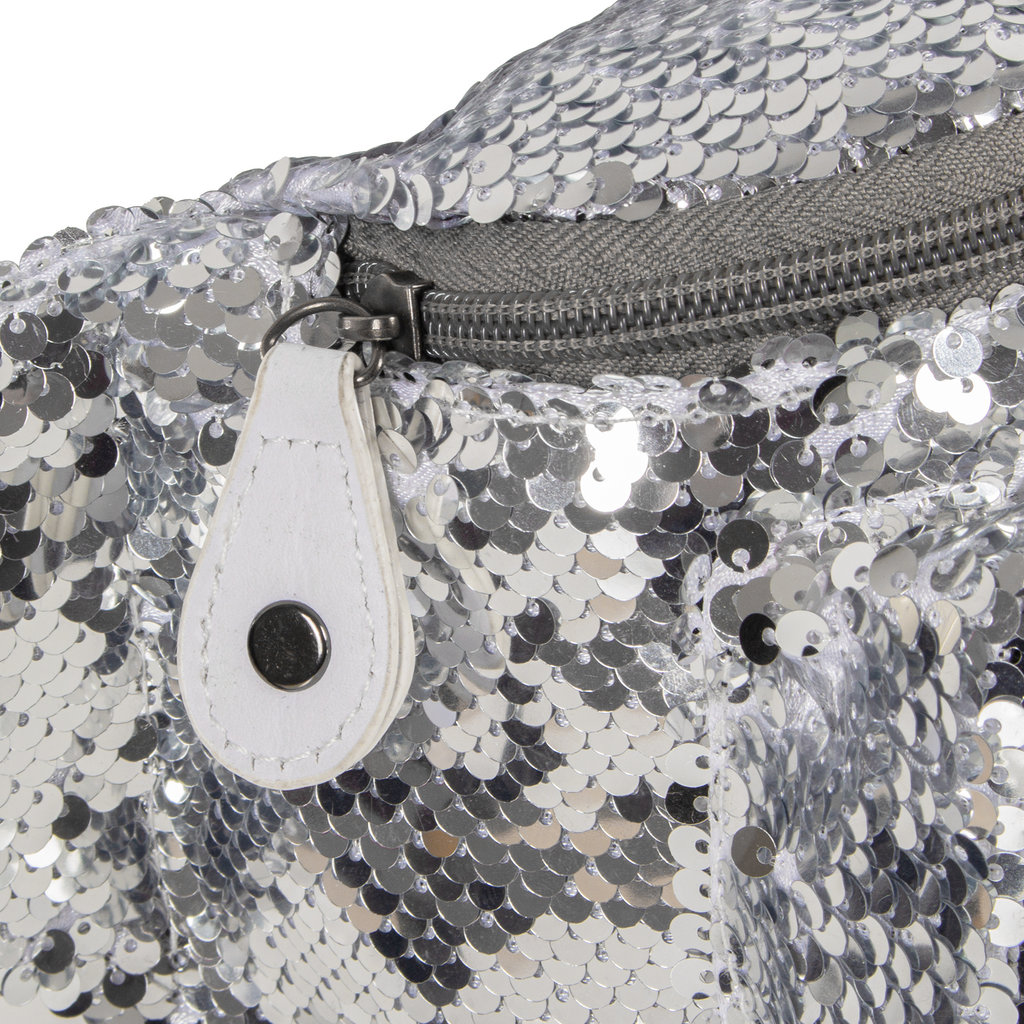 New Rebels Sequin Waistbag zilver | Heuptasje