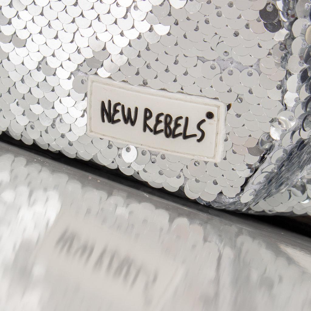 New Rebels Sequin Waist Bag Soft Silver | Heuptasje