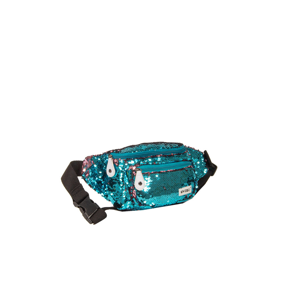 New Rebels Sequin Waist Bag Soft Blue