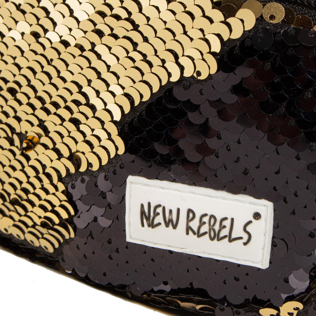 New Rebels Sequin Waist Bag Black | Bauchtasche