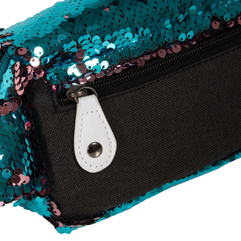 New Rebels Sequin Buckle Waist Bag Soft Blue   Bauchtasche