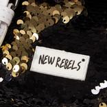 New Rebels Sequin Buckle Waist Bag Black