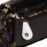 New Rebels Sequin Buckle Waist Bag Black   Heuptasje