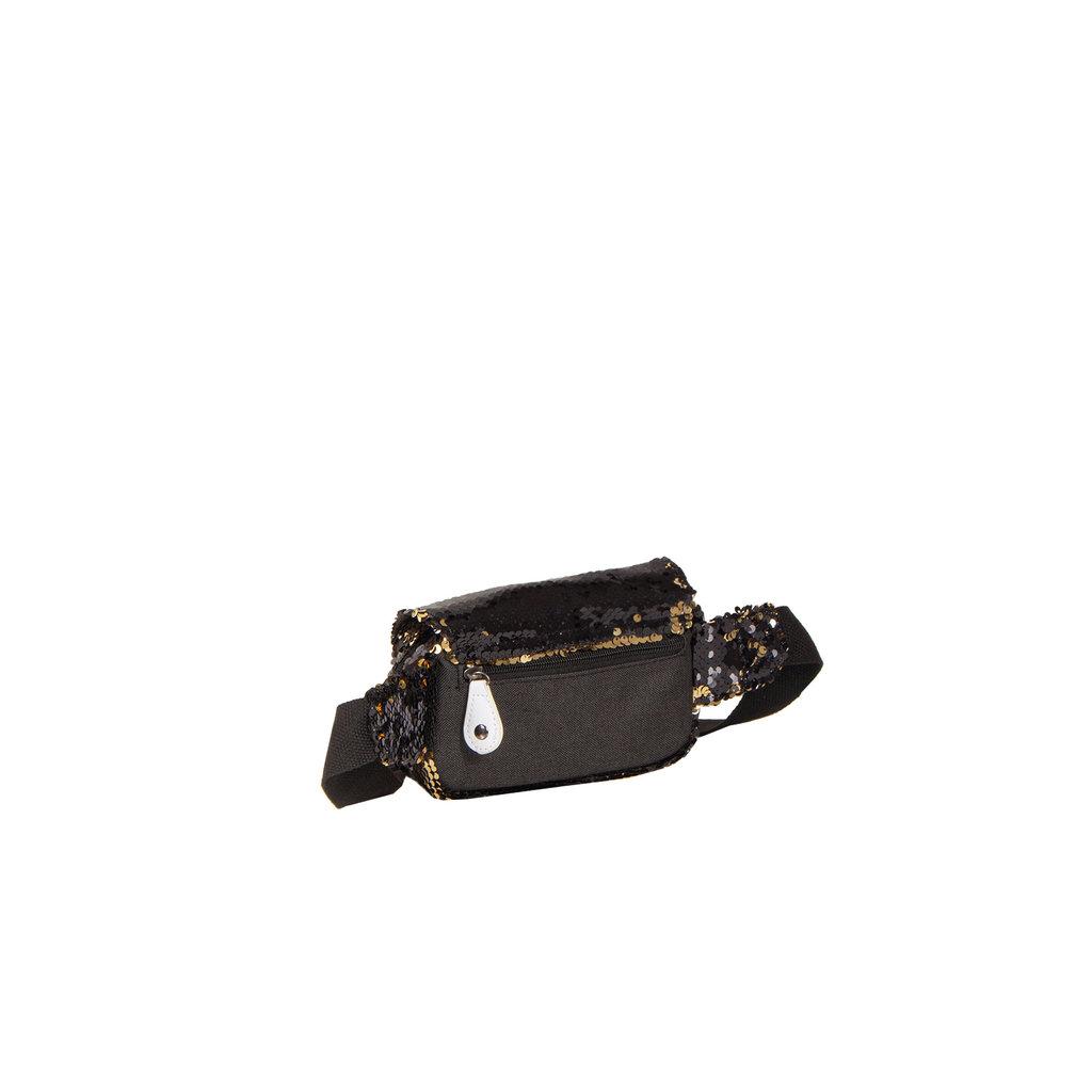 New Rebels Sequin Buckle Waist Bag Black | Heuptasje