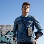 New-Rebels ® Mart - Water Repellent - Phone Pocket - 10x2x17cm - Grey
