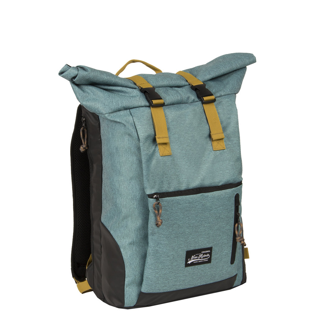 New Rebels Rolltop Backpack Rugzak Jack 15.6'' Petrol