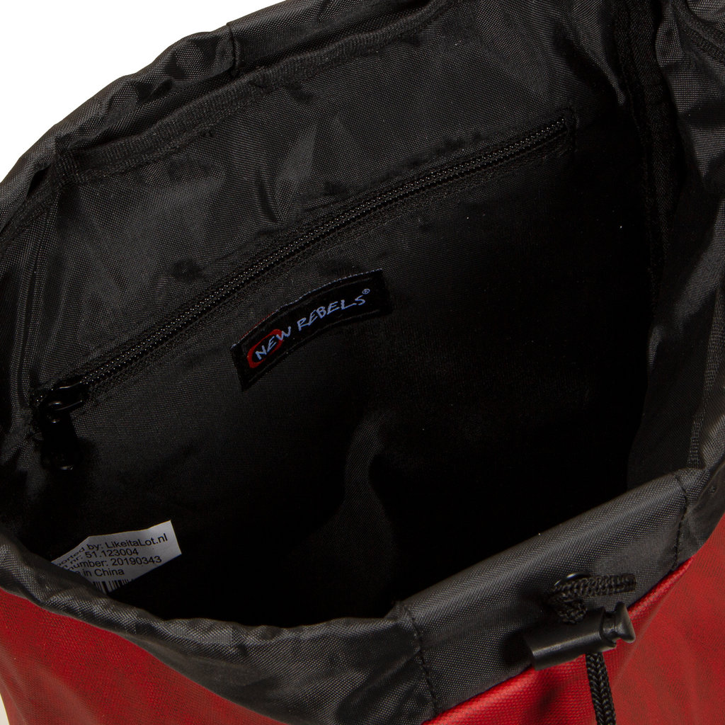 New Rebels Waxed Flapover Backpack | Rucksack Red