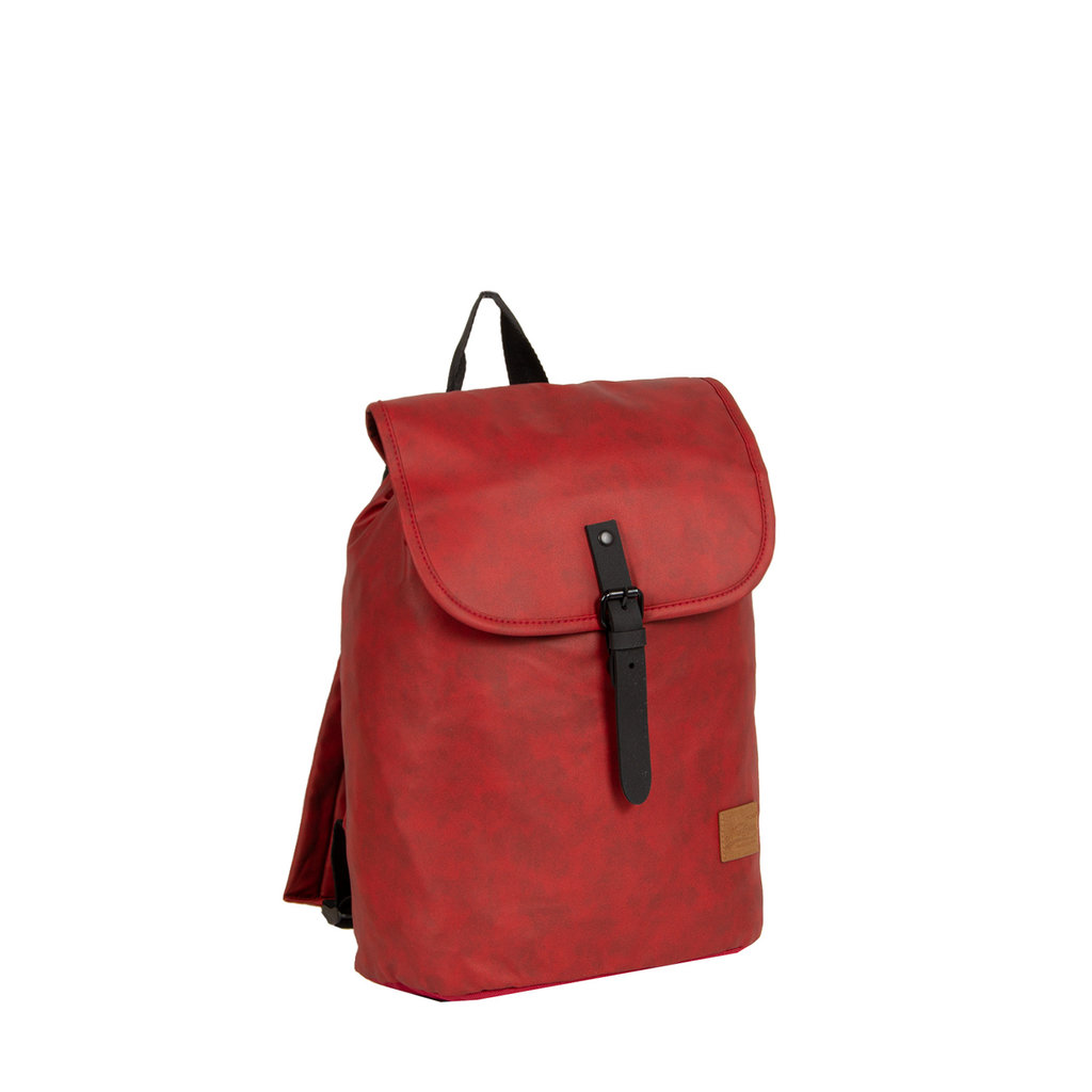 New Rebels Waxed red flapover bp  rugzak