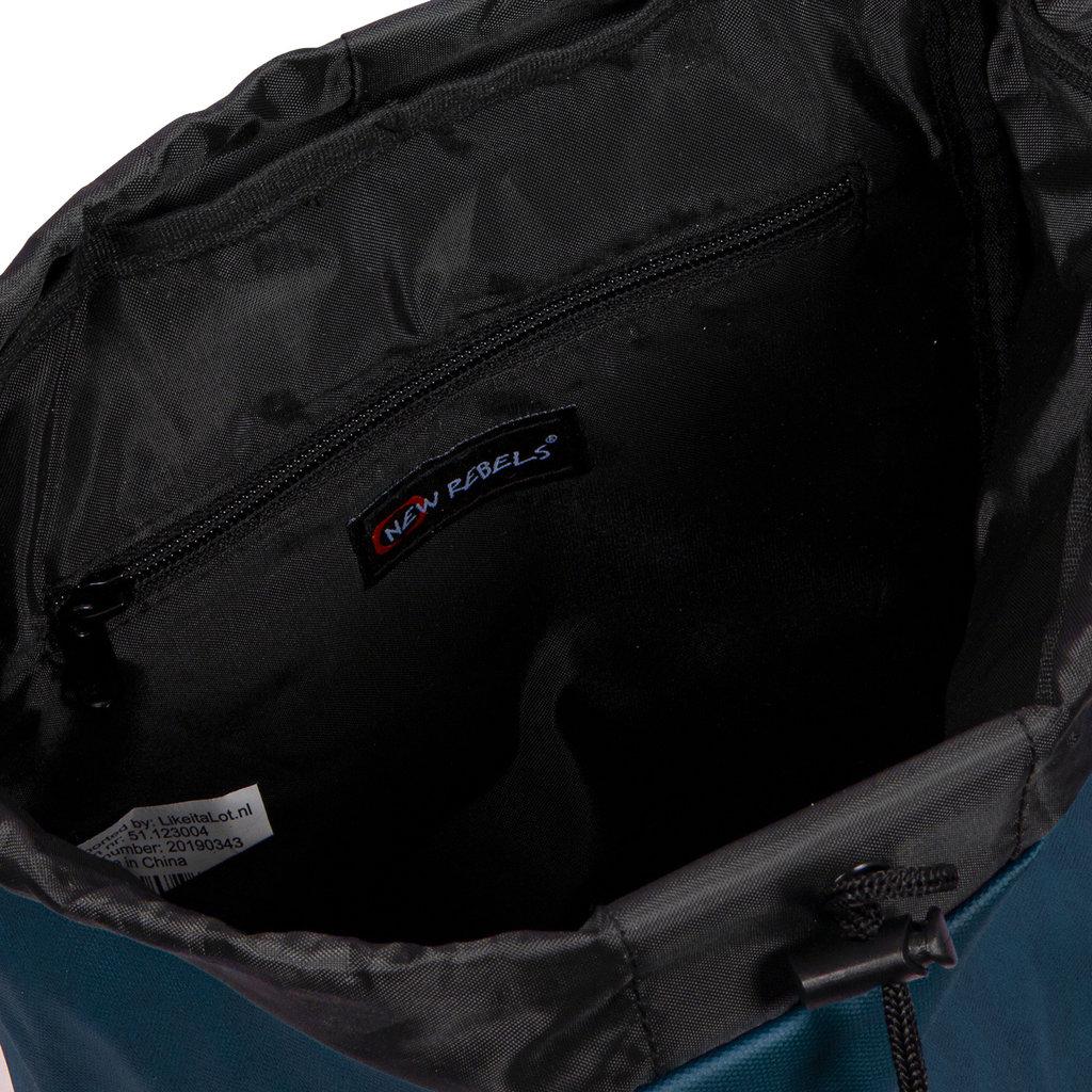 New Rebels Waxed  Flapover Backpack | Rugtas Navy