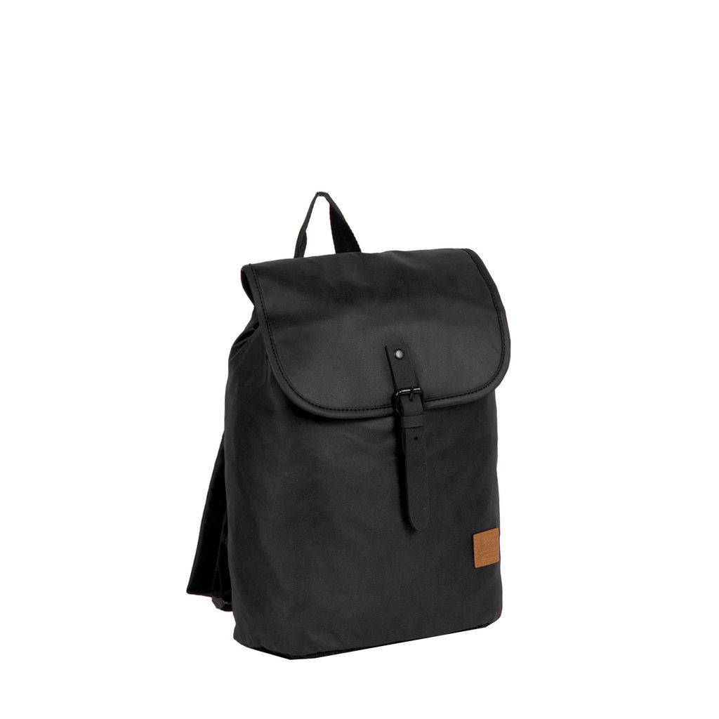 New Rebels Waxed Flapover Backpack | Rucksack Black