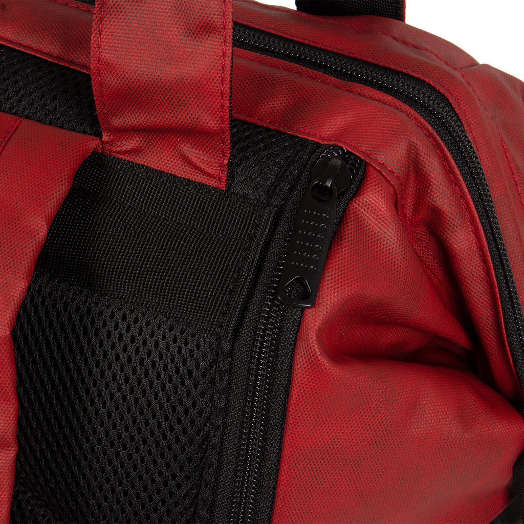 New-Rebels® Waxed red shopper backpack | Rugtas | Rugzak